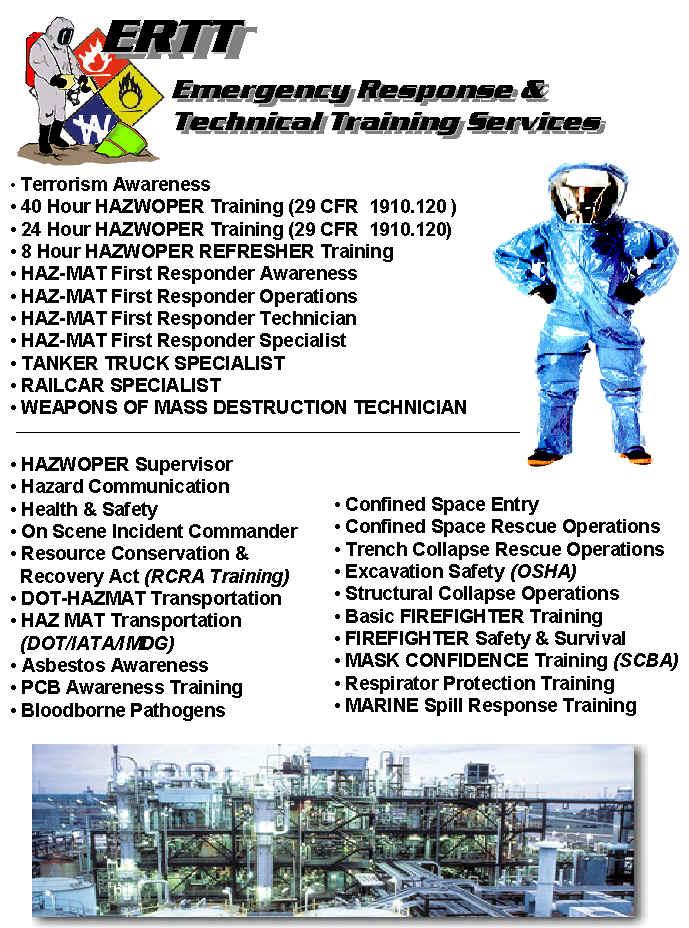 ERTT Emergency Response Technical Training